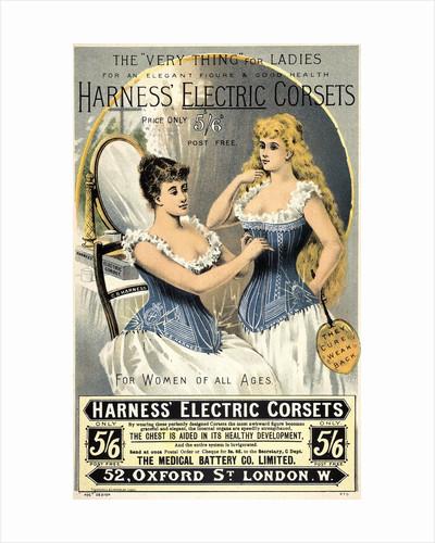 19th century corset advertisement by Corbis