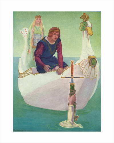 King Arthur receives the Sword Excalibur from the Lady of the Lake by Corbis