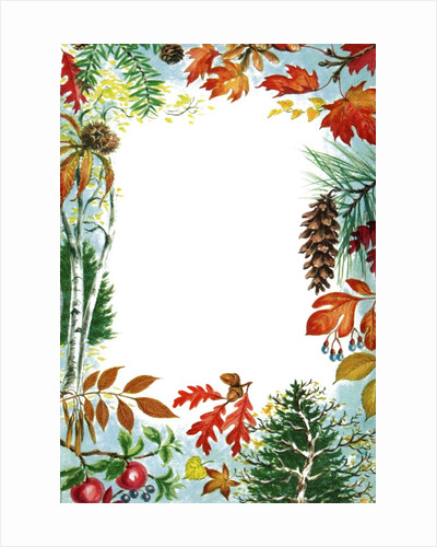 Border illustration with fall color by Corbis