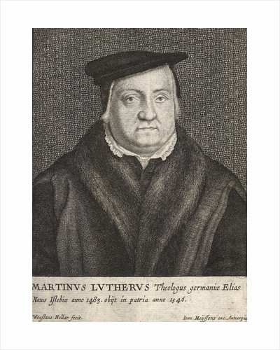 Engraving of Martin Luther by Wenceslas Hollar