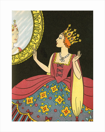 Snow White's stepmother looking into magic mirror by Corbis
