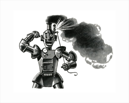 Mad robot blowing his top by Corbis