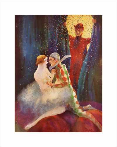 The Devil discovers Harlequin and his lover by Corbis