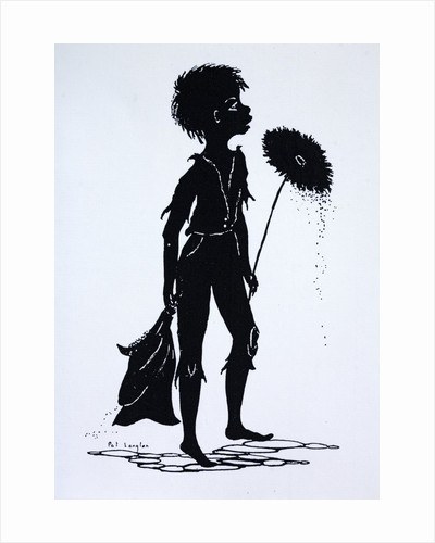 Silhouette of a Victorian child chimney sweep by Corbis