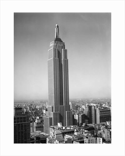 1930s new york city empire state building full length without antennae by Corbis