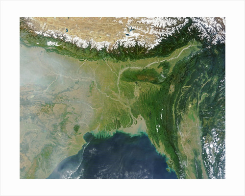 Satellite view of Bangladesh and the Ganges-Brahmaputra Delta by Corbis
