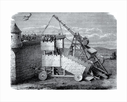 Medieval Seige or Sling Machine by Corbis