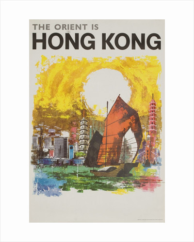 The Orient Is Hong Kong travel poster by Corbis