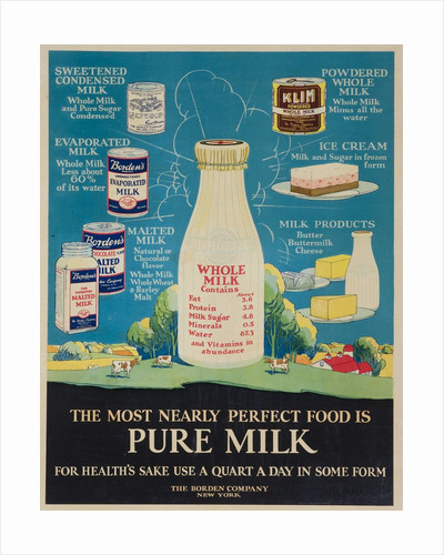 Bordon Milk Advertising Poster by Corbis