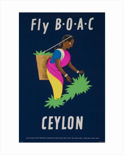 Fly BOAC Ceylon travel poster by Corbis