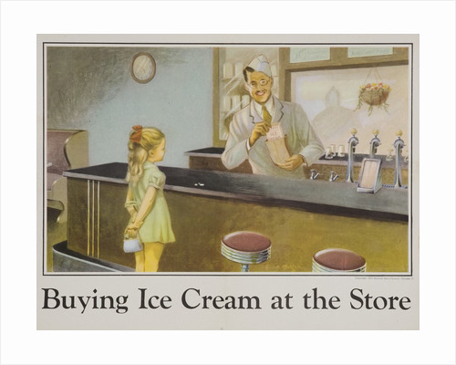 Buying Ice Cream at the Store poster by Corbis