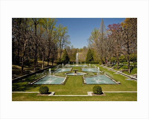 Italian Water Garden at Longwood Garden by Corbis