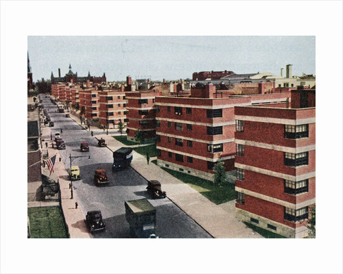 Vintage 1930s View of 'Modern' Apartment Buildings. by Corbis