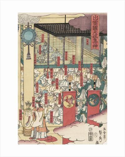 Gathering of gods at the great shrine at Izumo by Utagawa Sadahide