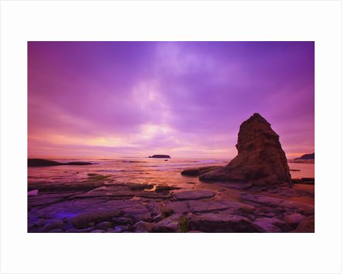 sunset Otter Rock, Oregon Coast, Pacific Northwest. Pacific Ocean by Corbis