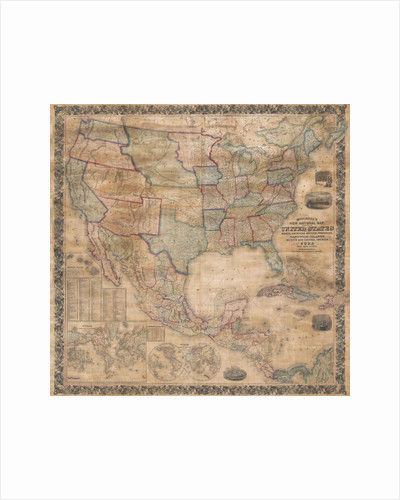 1856 wall map of the United States by Corbis