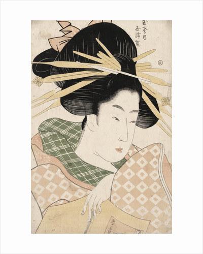 The Courtesan Shizuka of Tama-ya. by Corbis