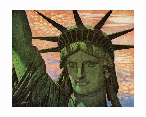 Close-Up Aerial View of the Statue of Liberty. by Corbis