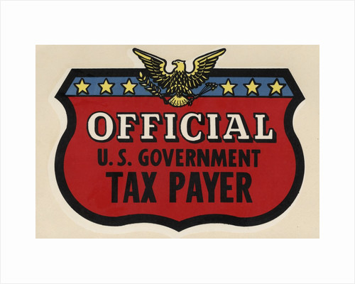 Official U.S. Government Tax Payer decal by Corbis