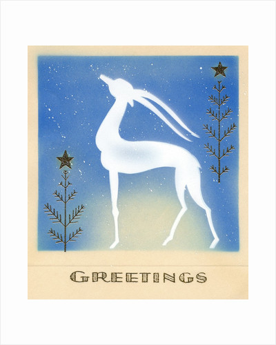 Art Deco Christmas Design with an Ibex by Corbis
