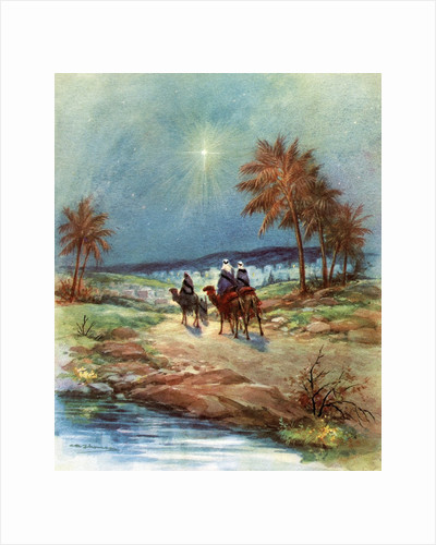 Vintage Illustration of the Three Magi by Corbis
