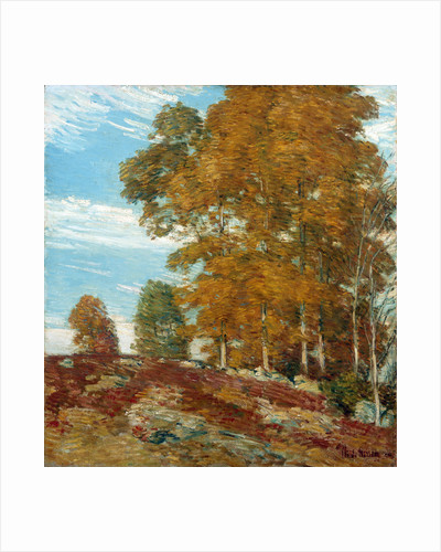 Autumn Hilltop, New England by Frederick Childe Hassam