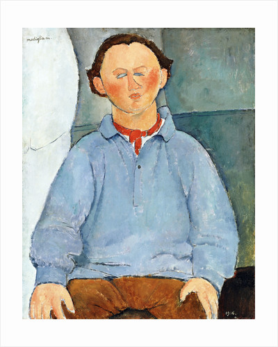 Portrait of Sculptor Oscar Miestchaninoff by Amedeo Modigliani