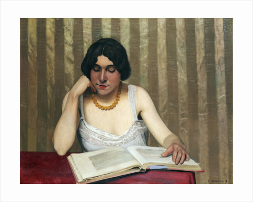 Reader with a Yellow Necklace by Felix Vallotton