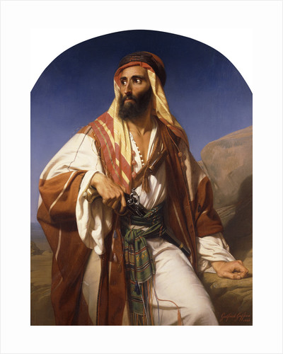 A Bedouin Chieftain by Godfried Guffens