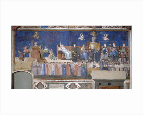 Allegory of Good and Bad Government: Good Government by Ambrogio Lorenzetti
