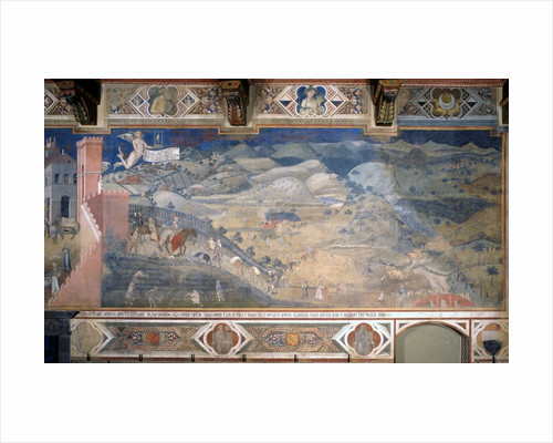 Allegory of Good and Bad Government: The Effects of Good Government in the Countryside by Ambrogio Lorenzetti