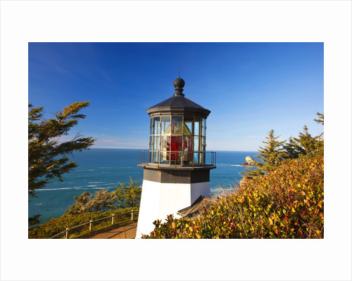 Cape Meares Lighthouse, from Cape Meares, Oregon, USA by Corbis