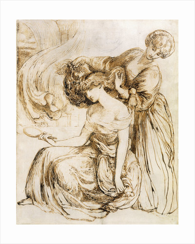 Study for Desdemona's Death Song: Othello, Act IV, Sc. III by Dante Gabriel Rossetti