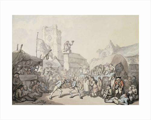 A Cornish Wrestling Match by Thomas Rowlandson