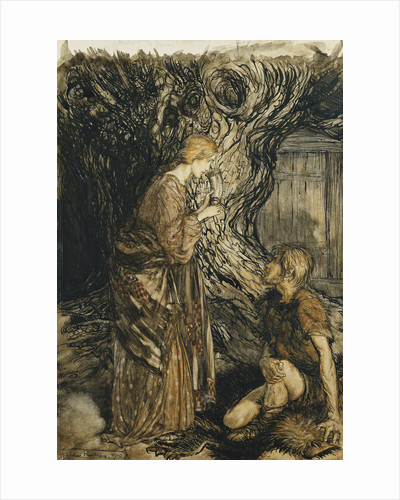 An Illustration to The Rheingold and the Valkyrie by Arthur Rackham