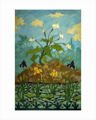 Lilies, Purple and Yellow Irises by Paul Ranson