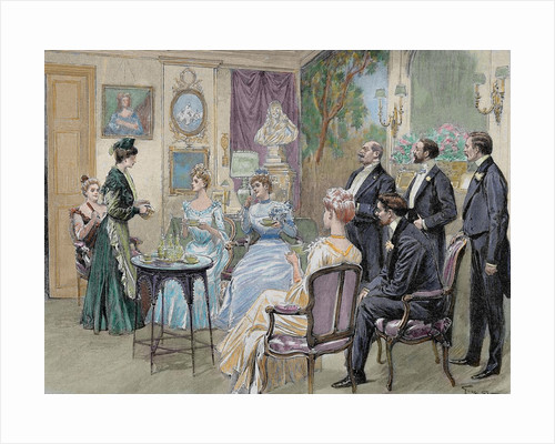 Meeting of aristocratic families in the living room by Corbis