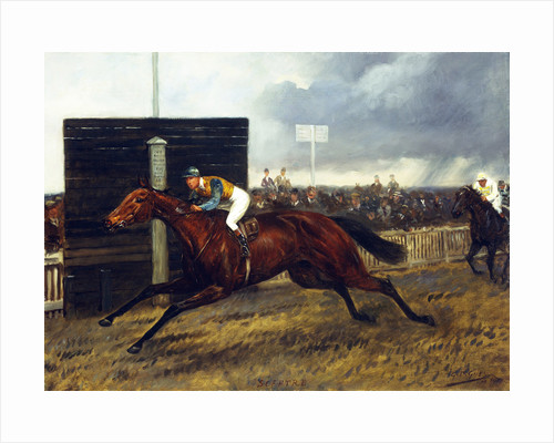 The Jockey Club Stakes, October 1st, 1903: 'sceptre' beating 'Rocksand' by Four Lengths by Geoffrey Douglas Giles