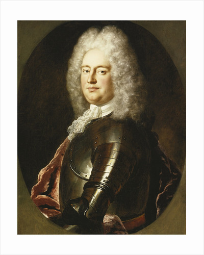Portrait of a Gentleman, Half Length, in Armour attributed to Jean-Marc Nattier by Corbis