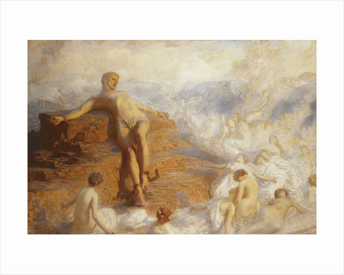 Prometheus Consoled by the Spirits of the Earth 'How Fair These Air-Borne Shapes! And Yet I Feel Most Vain All Hope But Love...' by George Spencer Watson