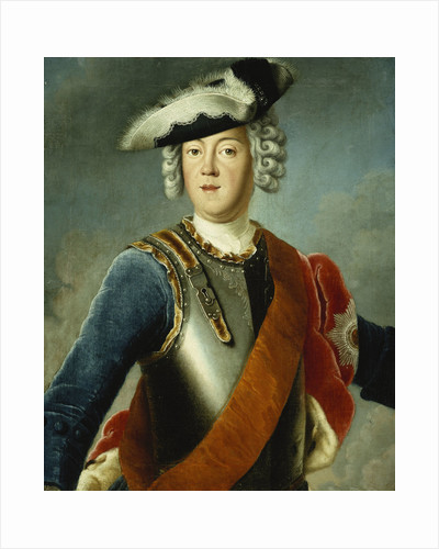 Portrait of a Gentleman, Said to be August William, Half Length, Wearing a Blue Jacket, White Shirt, and Armour Breast Plate by Corbis