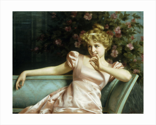 A Young Beauty by Vittorio Reggianini