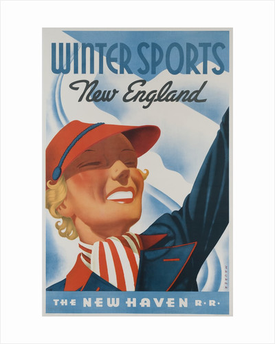 Winter Sports New England New Haven Railroad Travel Poster by Corbis