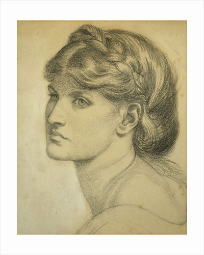 Study of a Head for 'The Bower Meadow' by Dante Gabriel Rossetti