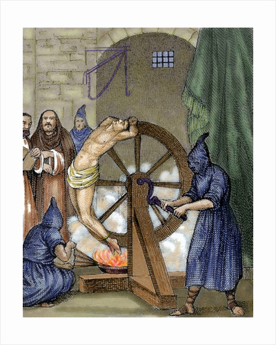 Inquisition. Instrument of torture. Wheel of Fortune by Corbis