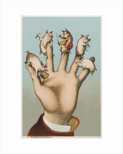Five pigs on five fingers by Corbis