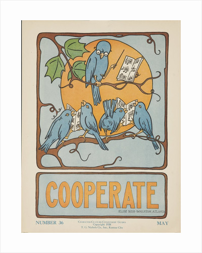 1938 Character Culture Citizenship Guide Poster, Cooperate by Corbis