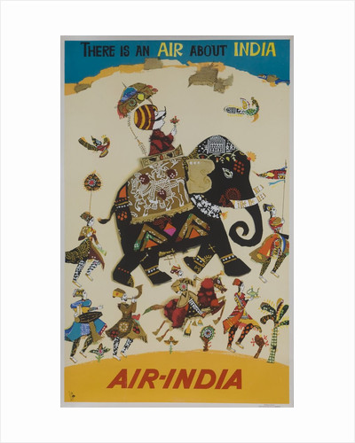 Air India Travel poster, there is an air about India by Corbis