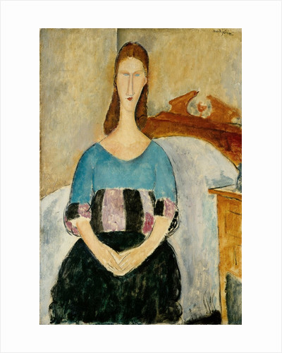 Portrait of Jeanne Hebuterne, Seated by Amedeo Modigliani