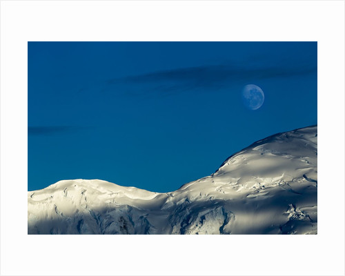 Mountain Ridge and Moon, Antarctic Peninsula by Corbis